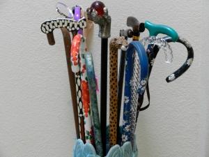 Ornamental canes.  © Norine Dresser, 2013.