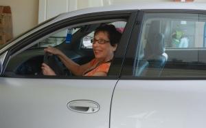 Norine STILL behind the wheel.  © Norine Dresser, 2013