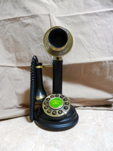 Old Fashioned telephone.  © Norine Dresser photo collection, 2014.