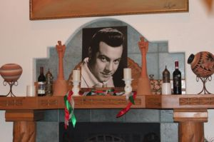 Shrine to Mario Lanza.  © Photo by Barry Fisher, 2014.