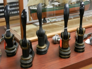 Collection of embossers on display at the IHSF.