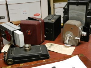 Camera Collection on display at IHSF, Mesilla Park, NM.