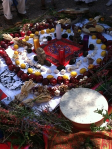 Altar to honor the Four Directions.  © Norine Dresser photo collection, 2014.