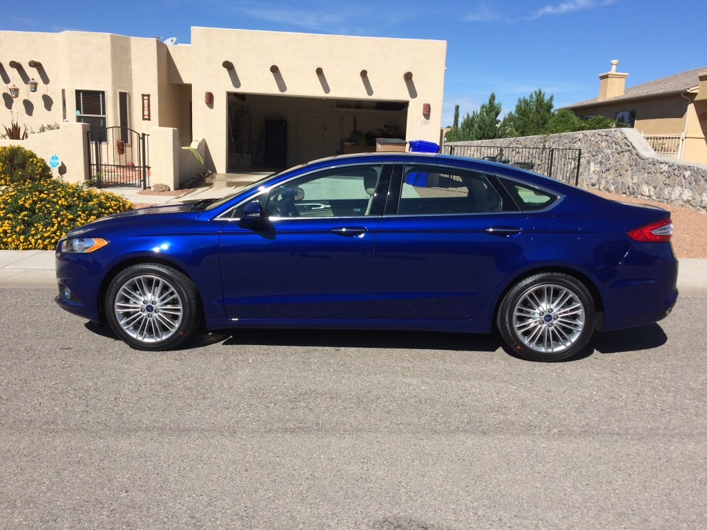 My brand new Ford Fusion. © Norine Dresser photo collection, 2015.