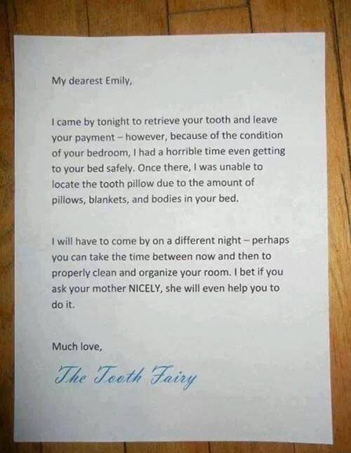 Tooth Fairy Ultimatum. © Norine Dresser photo collection, 2015.