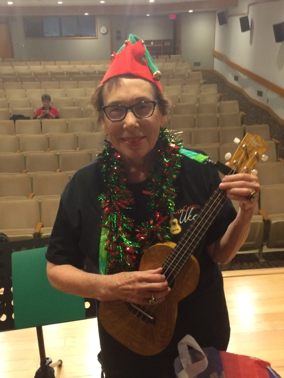The author in her Las Cruces Ukes performance costume. © Norine Dresser photo collection, 2015.